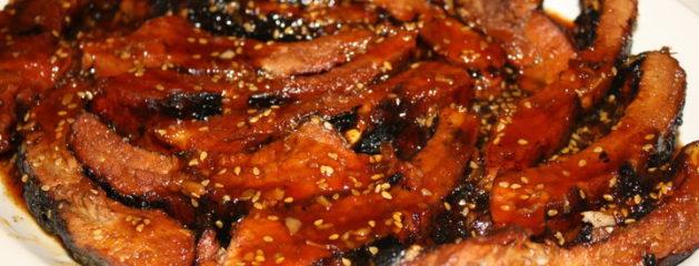 Honey Ginger Balsamic Glazed BBQ Ribs